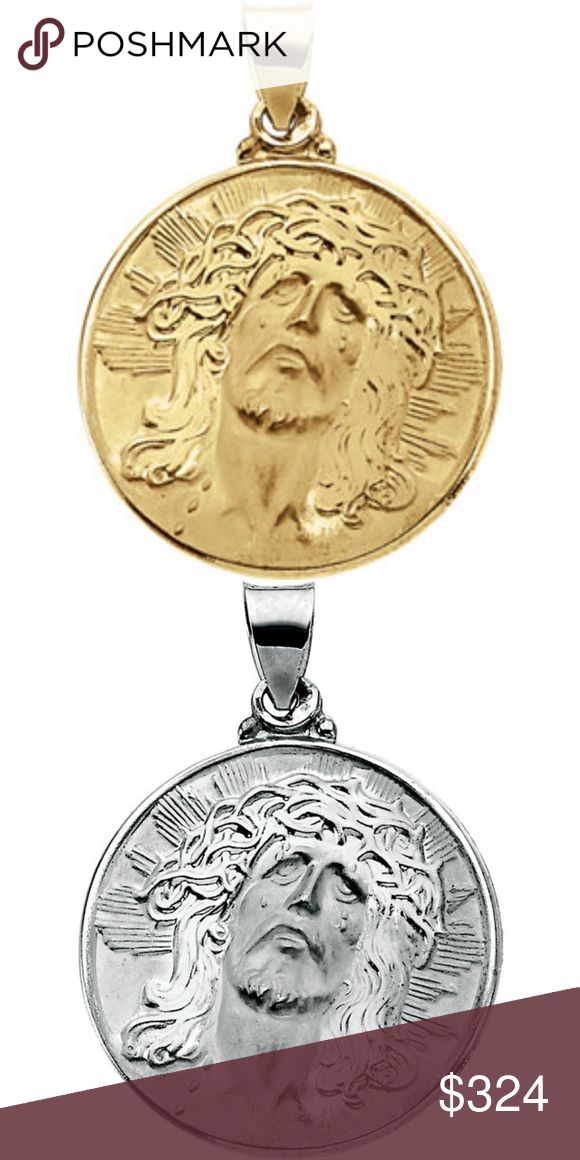 14K Yellow 12mm Round Our Lady of Guadalupe Medal