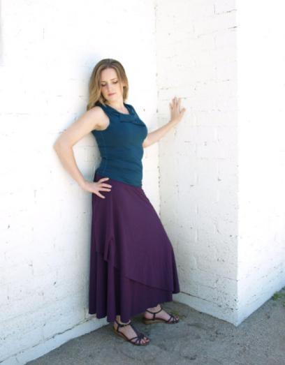 Full length wrap skirt is made to order in 19 different colors. Pick your size and color! Great for travel.