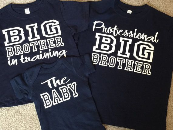 353b9a9e Big Brother Shirt Set, Big Brother In Training, Professional Big Brother,  Set Of 3 Shirts, Siblings Tshirts, Big Brother T-shirts