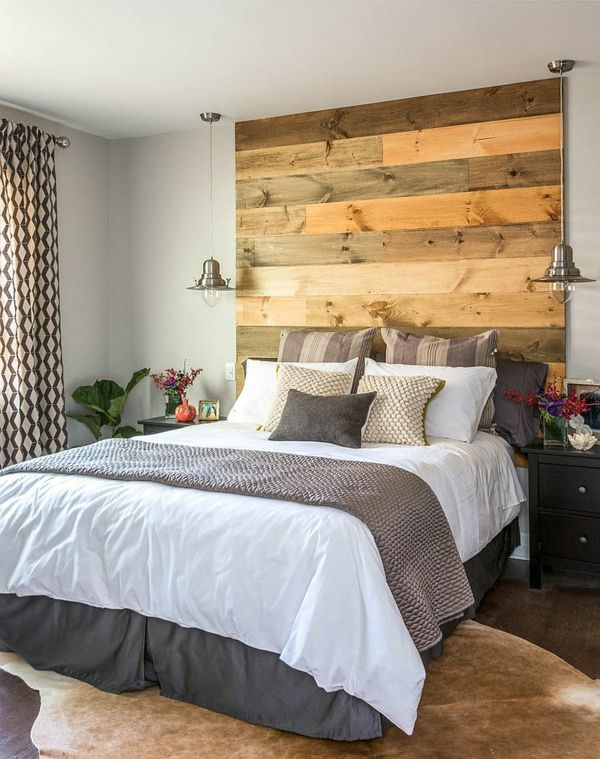 Schlafzimmer Pendelleuchten Kopfteil Bett Holz Design Carriage Lane Design  Build