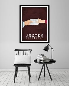 Perhaps best known work from Jane Austen. Pride and Prejudice is replete with British witticism and mastery of language. Bookish art and literary poster. Jane Austen was born in England in 1775. She w