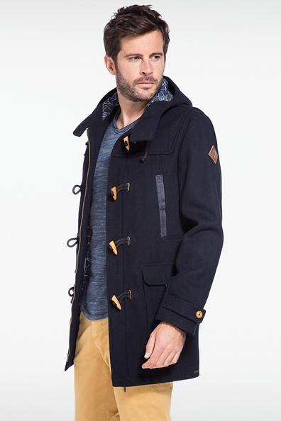 Duffle-coat homme capuche doublée | Hipster Style | Pinterest