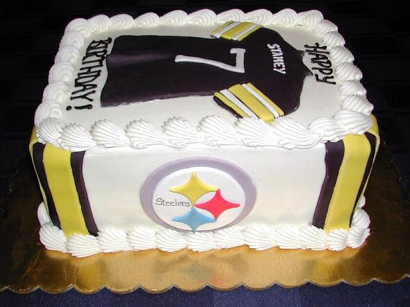 Steelers Jersey Sheet Cake 7 Party Steelers Pinterest Cake