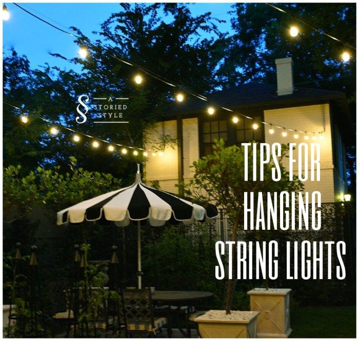 How To Hang String Lights How To Hang String Lights  Porch Sittin'  Pinterest  Lights