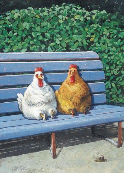 Huhner Inkognito Arte De Pollo Aves De Corral Ilustraciones De Animales