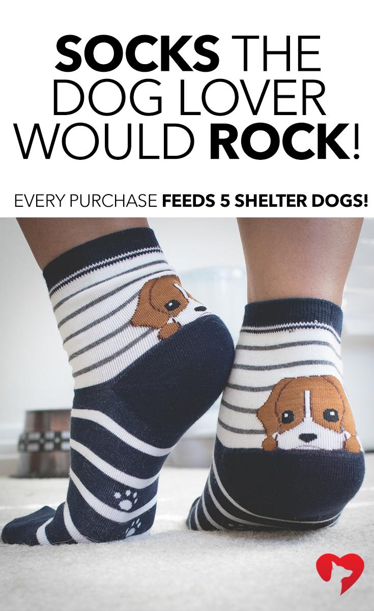 Peekaboo Puppy Navy Striped Socks Dog lovers, Dog mom