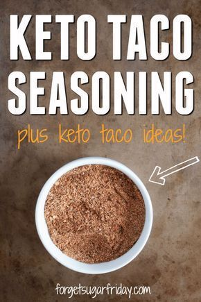 Love tacos?! Me too! That's why I made this awesome Homemade Keto Taco Seasoning recipe. Taco seasoning packets are loaded with carbs and fillers, but this easy taco seasoning recipe contains only 3g net carbs per serving (and each serving seasons an entire pound of meat!). This low carb taco seasoning is perfect for taco night even if you don't follow a keto diet. #keto #ketodiet #ketogenic via @fsugarfriday #tacoseasoningpacket Love tacos?! Me too! That's why I made this awesome Homemade Keto #tacoseasoningpacket