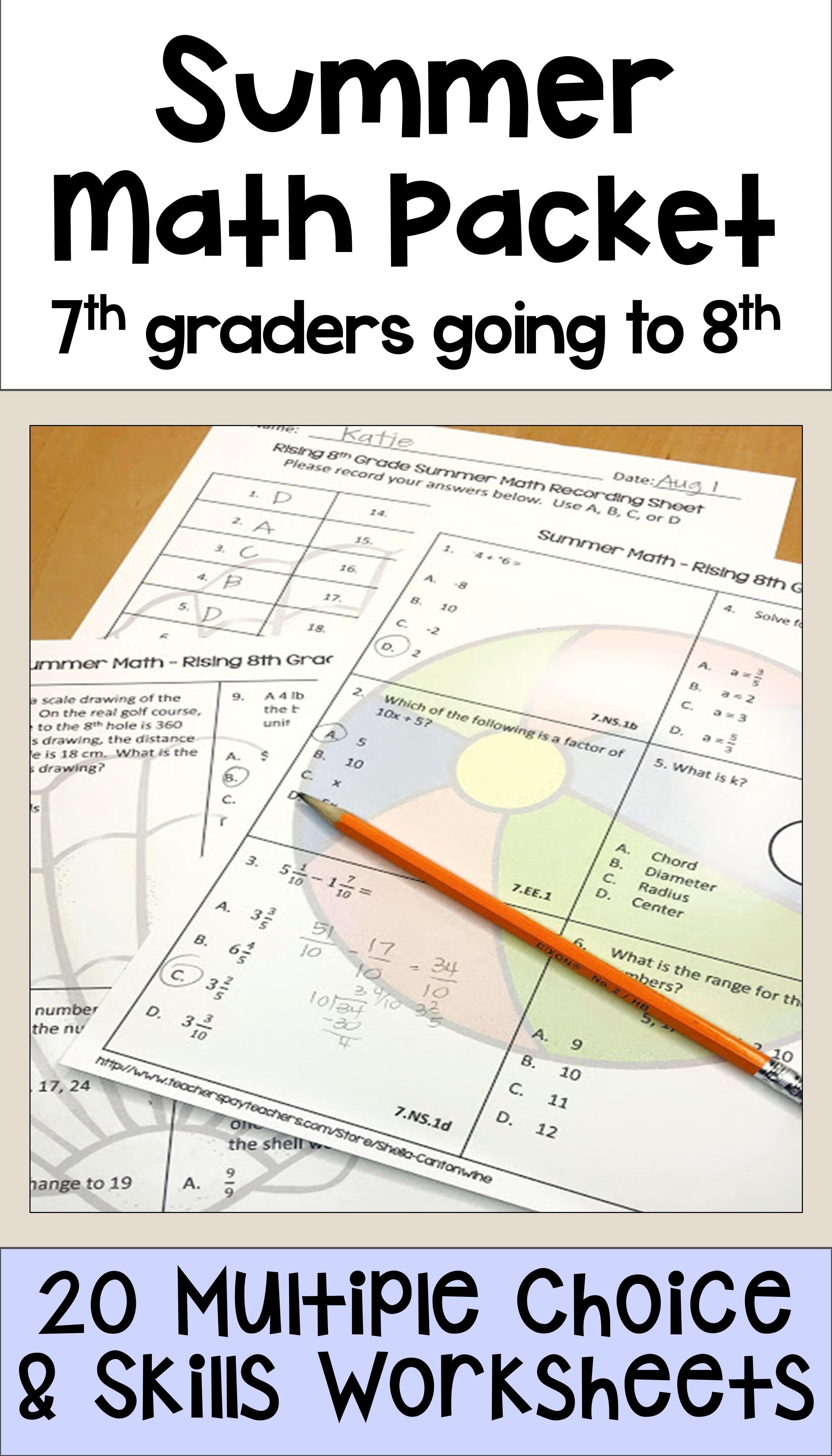 Middle School 7th Grader 7th Grade Math Worksheets