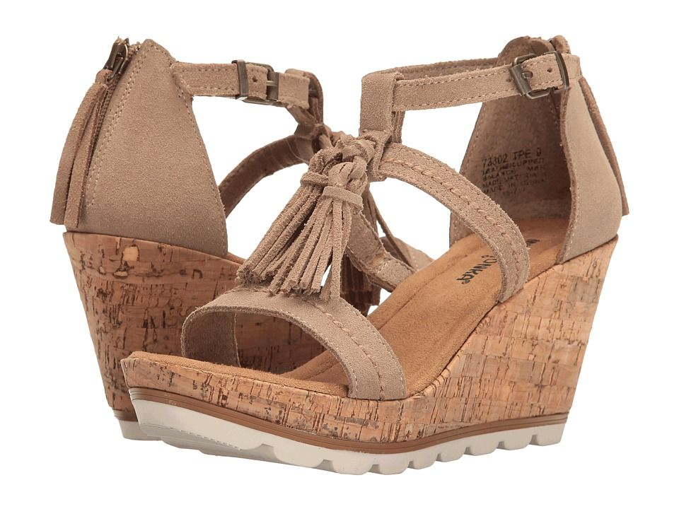 MINNETONKA MINNETONKA - LINCOLN (TAUPE SUEDE) WOMEN S WEDGE SHOES.   minnetonka  shoes   2ea7b0d6ed