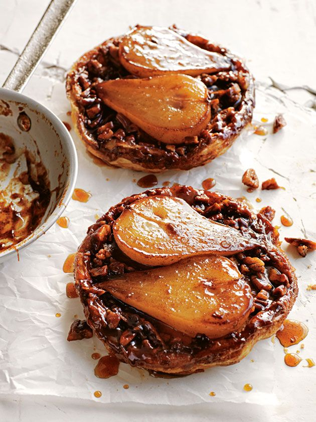 pear, maple and pecan tarte tatin from donna hay magazine