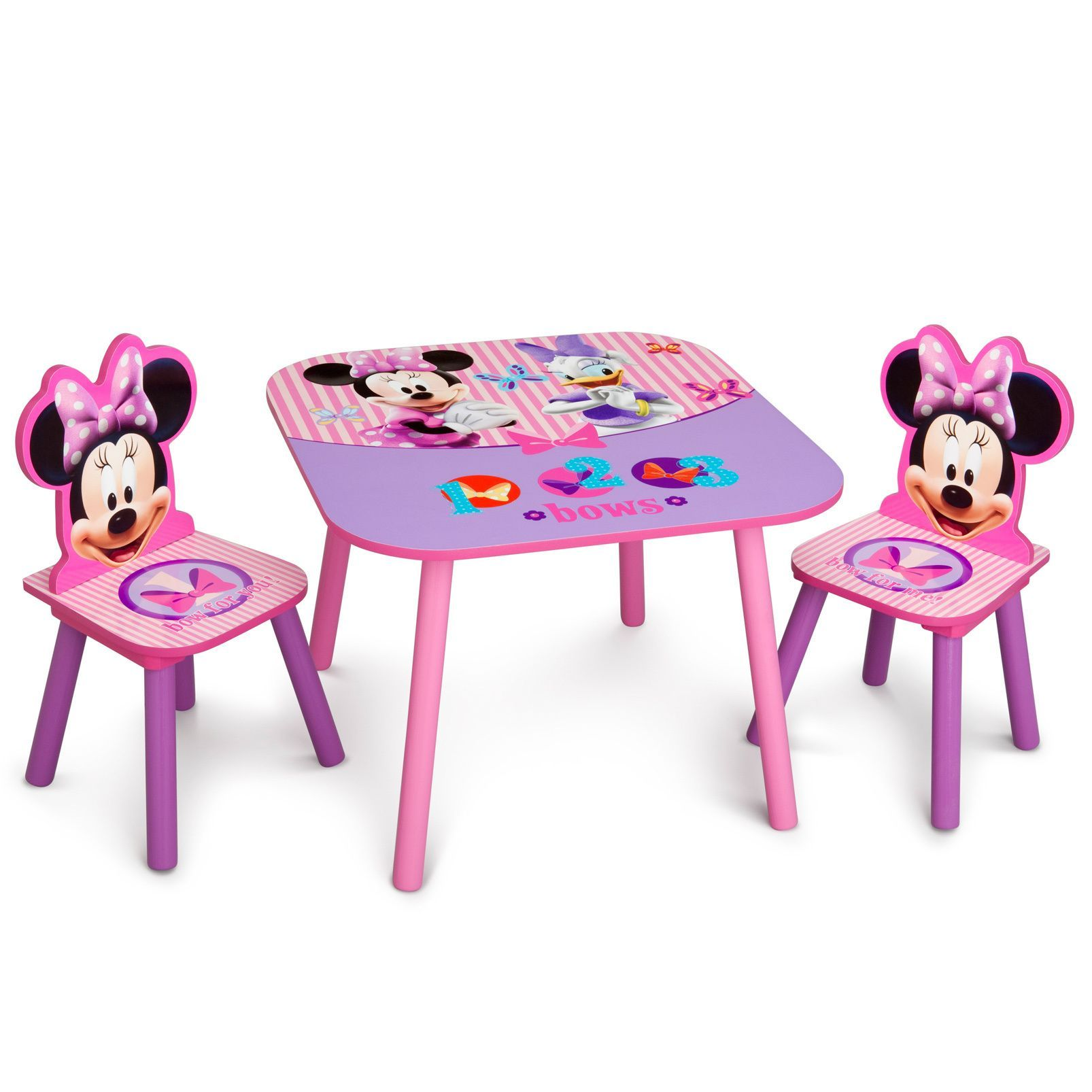 Delta Children Disney Minnie Mouse Wooden Table And Chair Set