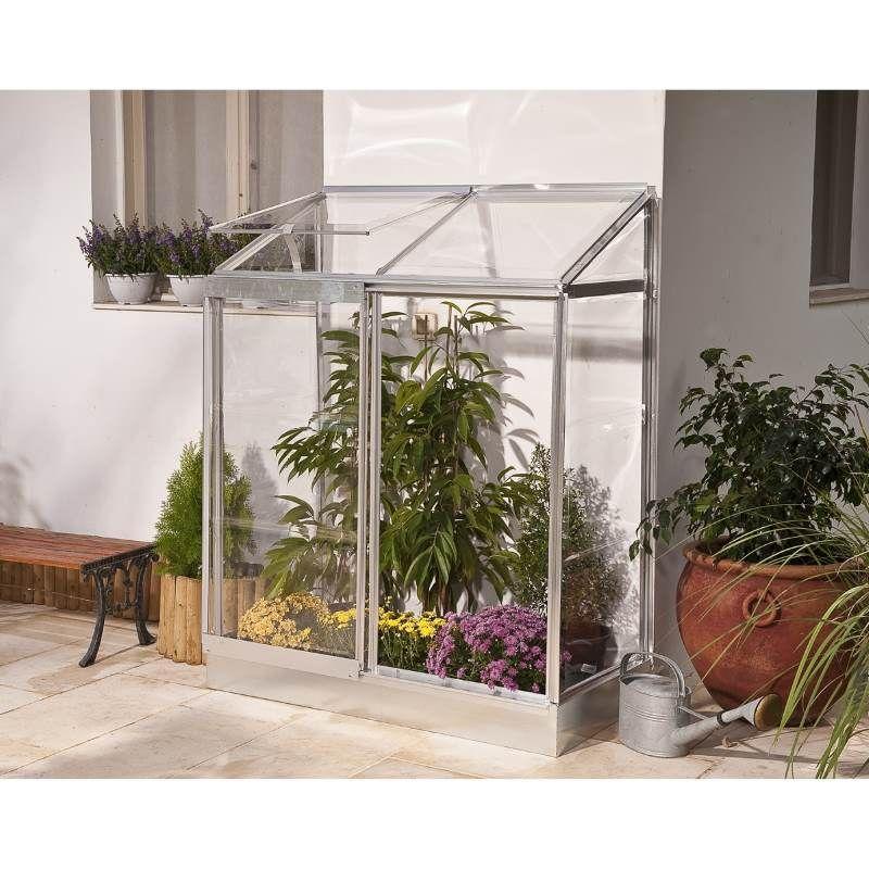 Maze Polycarbonate Greenhouse 4ft X 2ft Lean To Angebautes Gewachshaus Anlehngewachshaus Gewachshaus