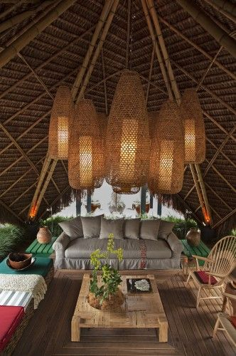 First World Hut Thatched Roof Gorgeous Lantern Cluster And Roof Thatch Balinese Decor Tropical Houses Gazebo Lighting
