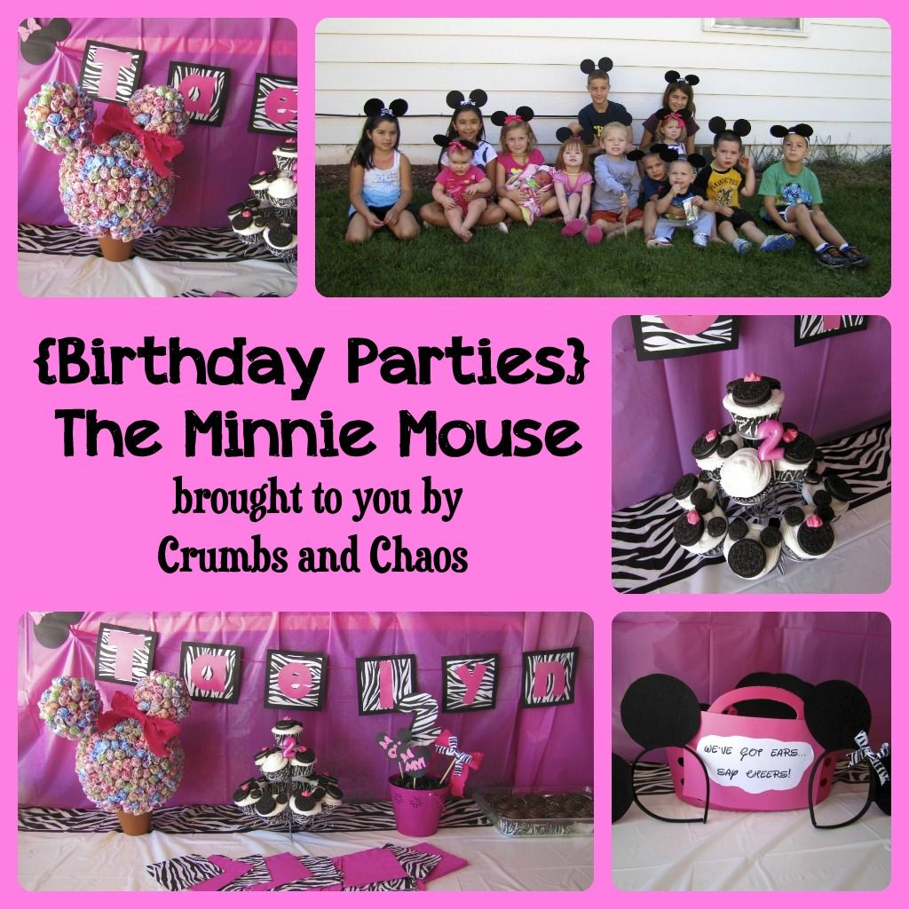 Crumbs and Chaos: (Birthday Parties) The Minnie Mouse