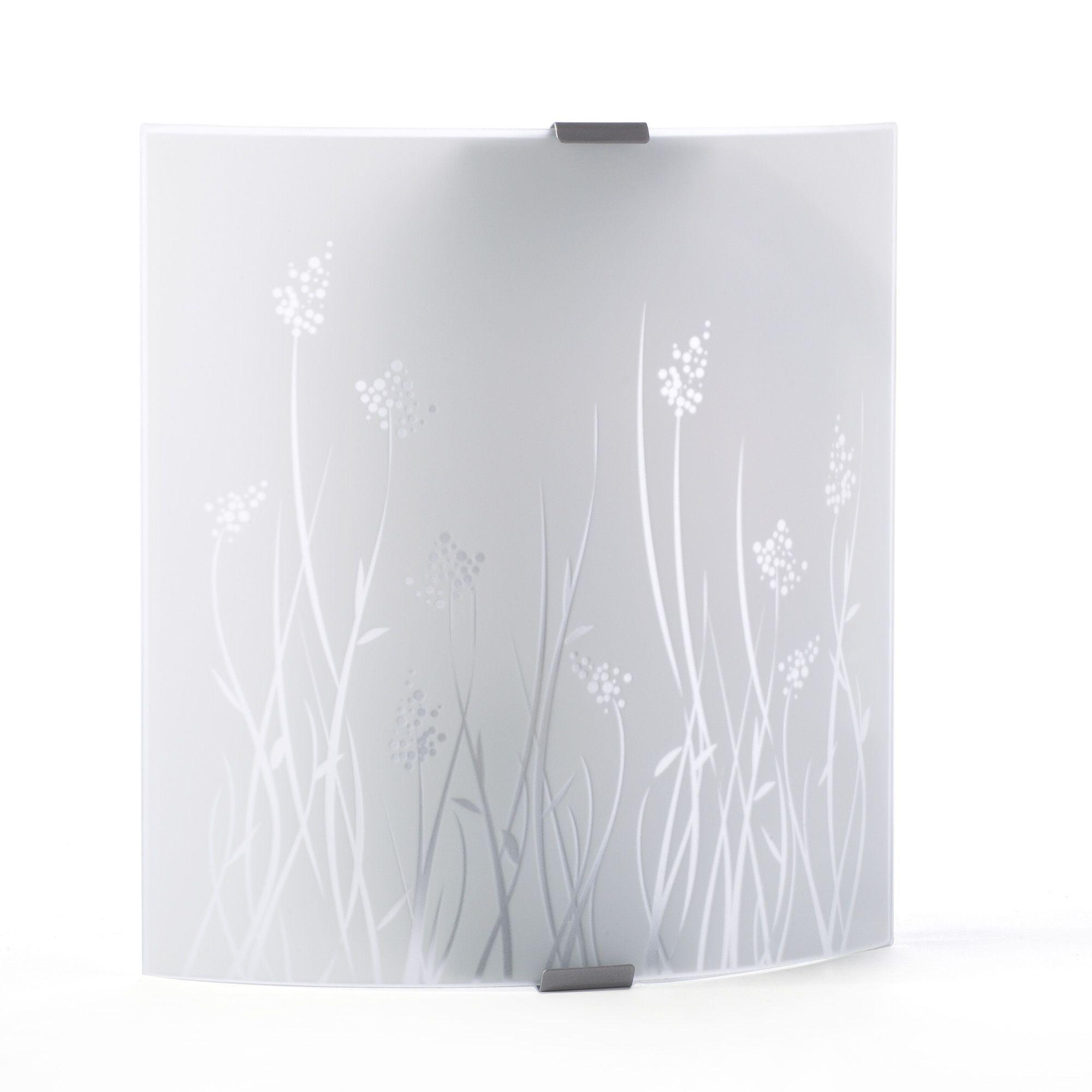 applique murale en verre blanc sunset luminaire les. Black Bedroom Furniture Sets. Home Design Ideas
