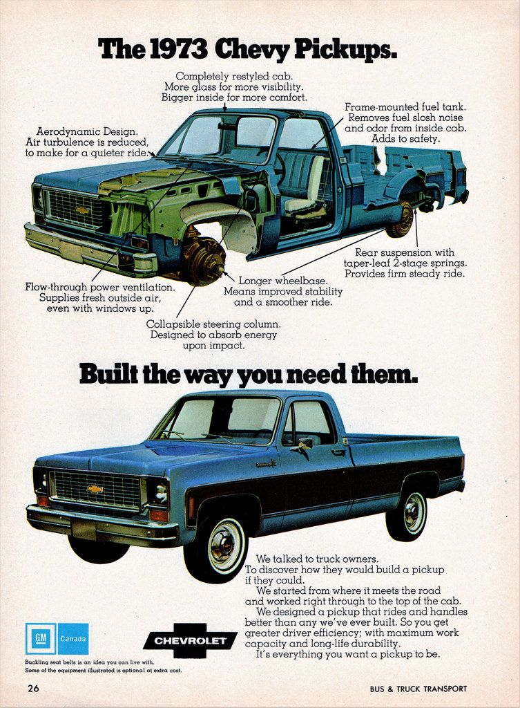 1973 Chevrolet Pickup Ad Canada Chevrolet Pickup Pickup Trucks Chevy Pickup Trucks