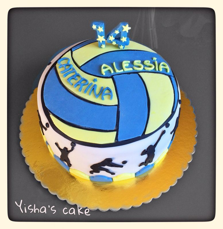 Enjoyable Volleyball Cake Love The Top Of This Cake Possibility With Personalised Birthday Cards Beptaeletsinfo