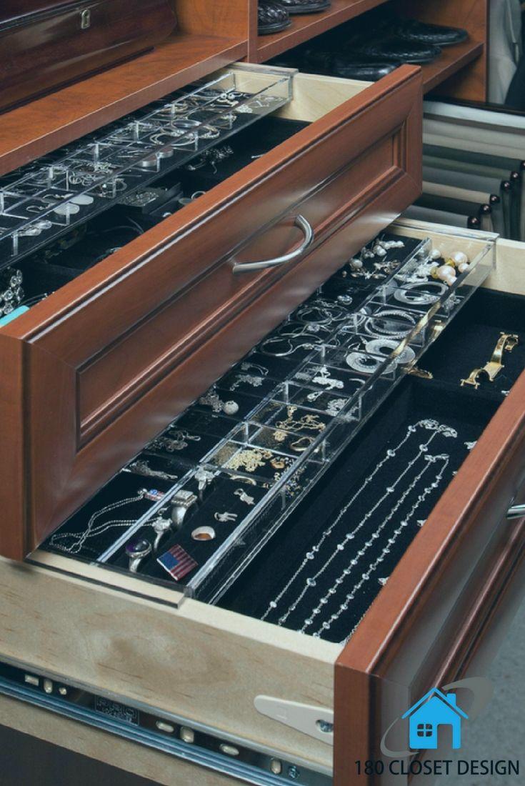 Custom made jewelry dresser by 180 Closet Design. Custom