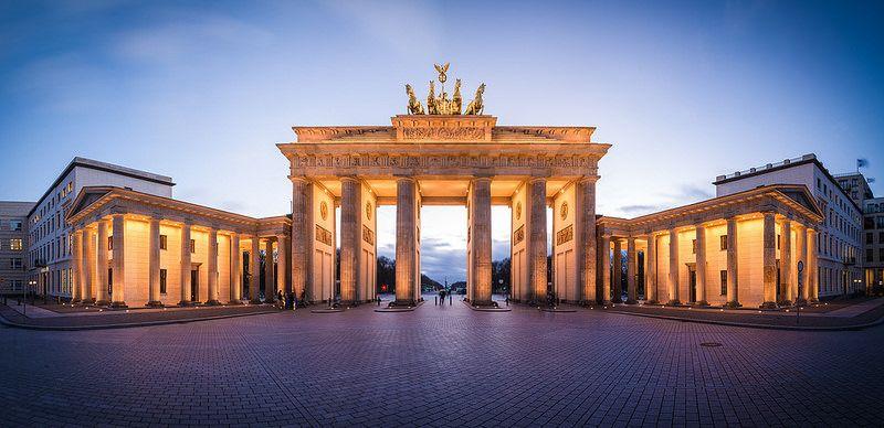 Berlin Brandenburger Tor Panorama Places Big Ben Building