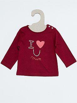 01962e47a01 Camisetas - Camiseta de algodón estampada - Kiabi