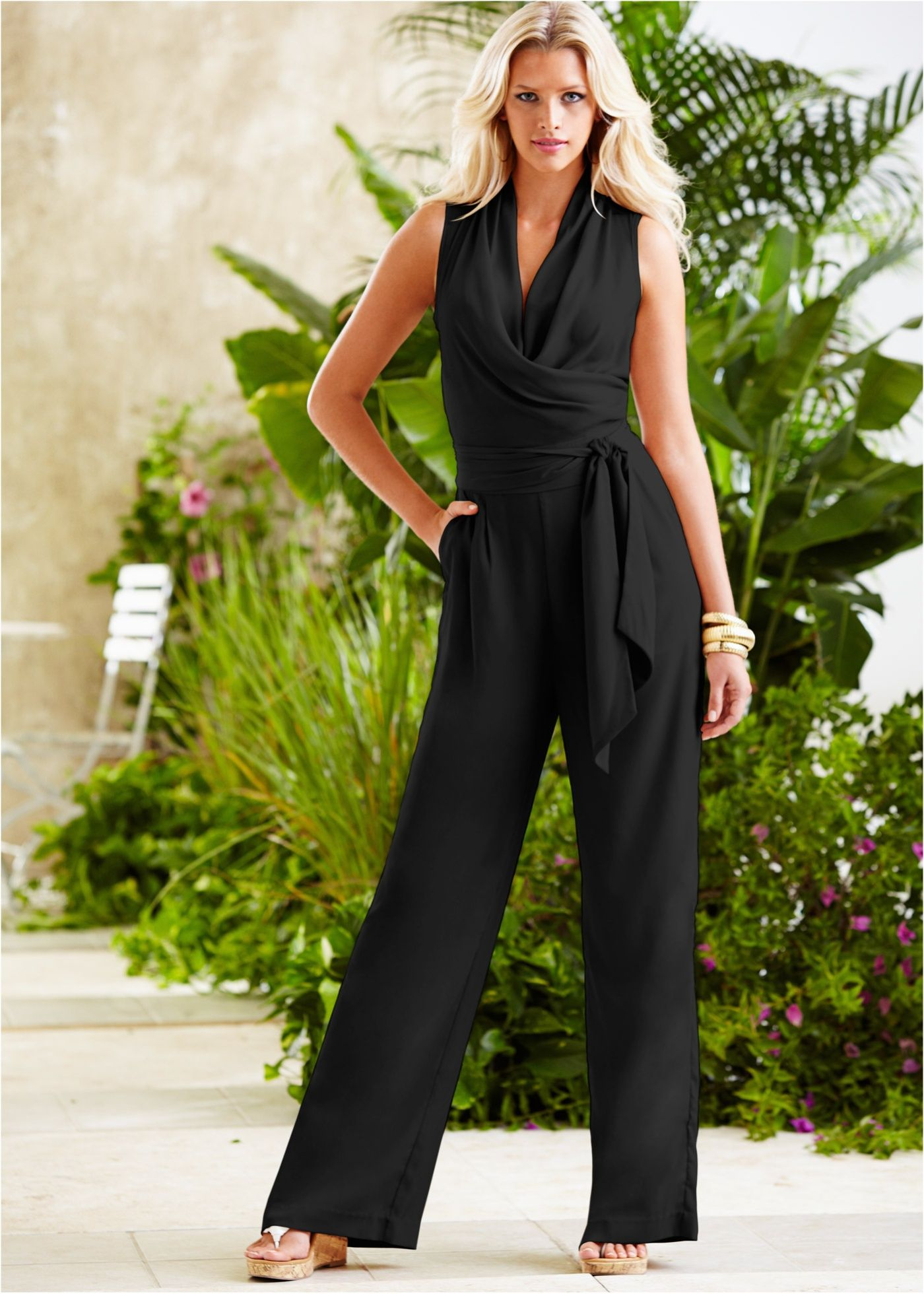 ae5681ff8 Macacão pantalona com cinto preto encomendar agora na loja on-line bonprix .com.br R  119