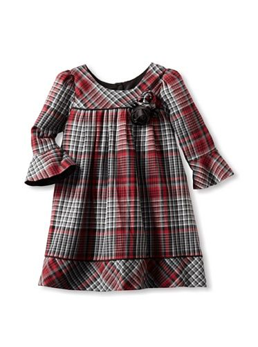 50% OFF Pippa & Julie Girl's Plaid Dress (Grey/Red)