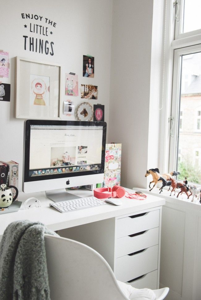 para copiar home office teen com decora o neutra teen