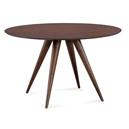 Iris 60 Inch Java Round Dining Table Saloom Furniture Dining