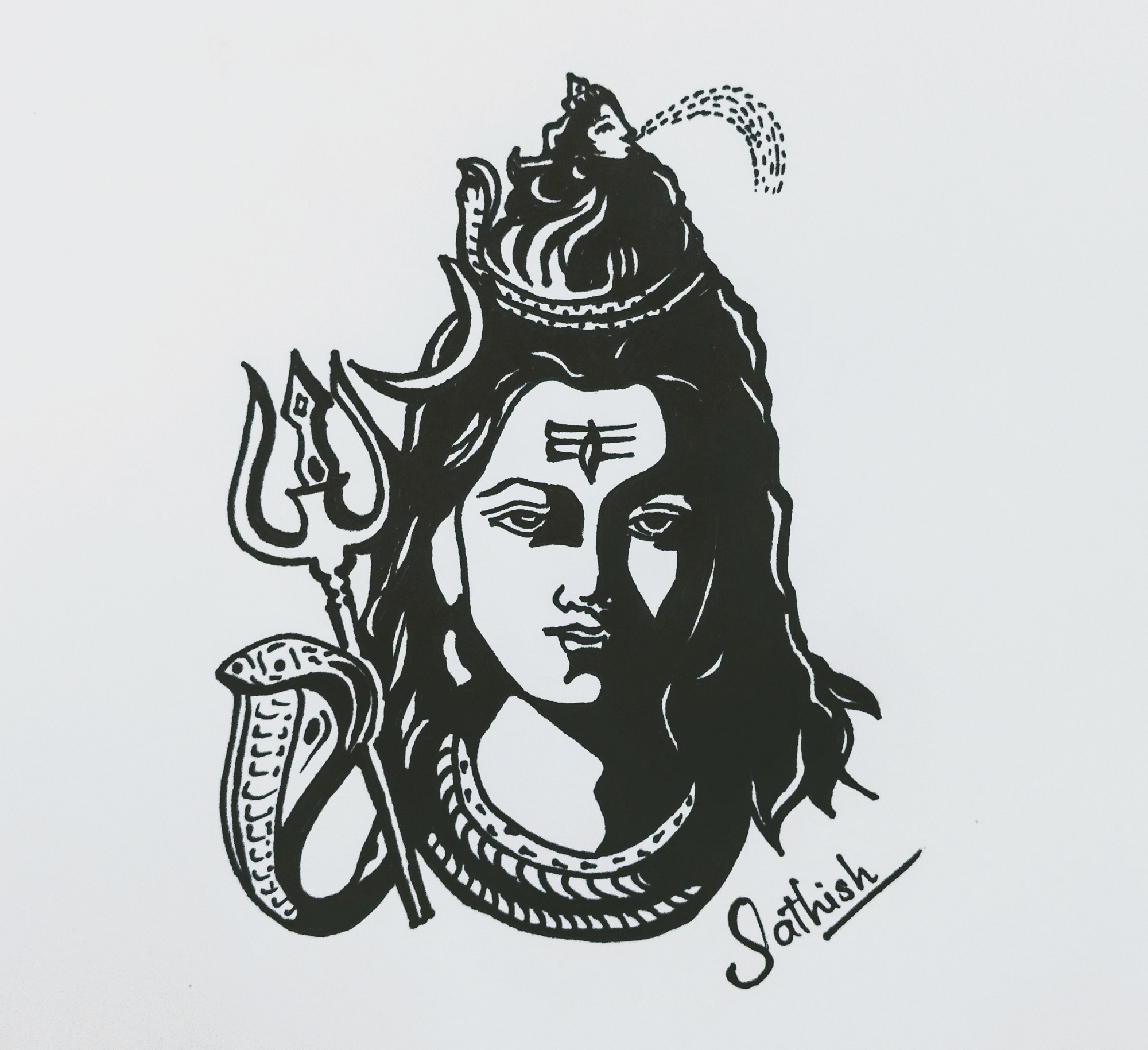 My Drawing Of Lord Shiva Drawing Sathishlive Pencil Art