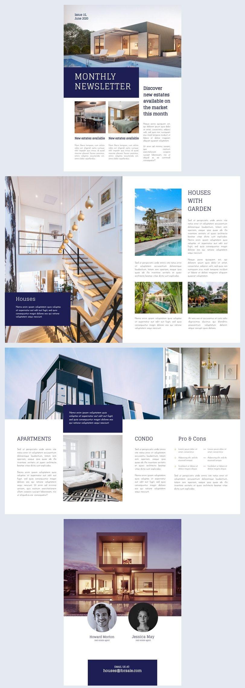 Real Estate Newsletter Template Newsletter Templates Real Estate Selling Real Estate