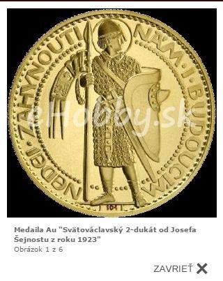 """Sledujte naše novinky :) Medzi ne patrí aj medaila """"Svätováclavský 2-dukát od Josefa Šejnostu z roku 1923"""" http://www.ehobby.sk/medaily/medaila-au-svatovaclavsky-2-dukat-od-josefa-sejnostu-z-roku-1923/"""