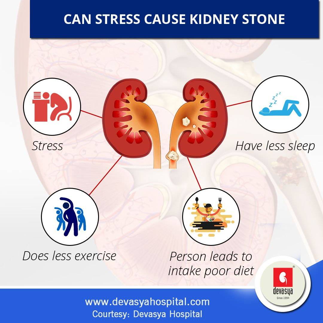 There Is An Indirect Connection Between Stress And Kidney Stones Stone Forms When An Individual Is Dehydrated And Due Stressed Person Stress Causes Sleepless