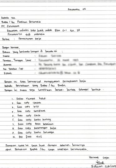 Contoh Surat Lamaran Kerja Terbaru Yang Baik Dan Benar Kaskus Creative Cv Template Tulisan Tulisan Tangan