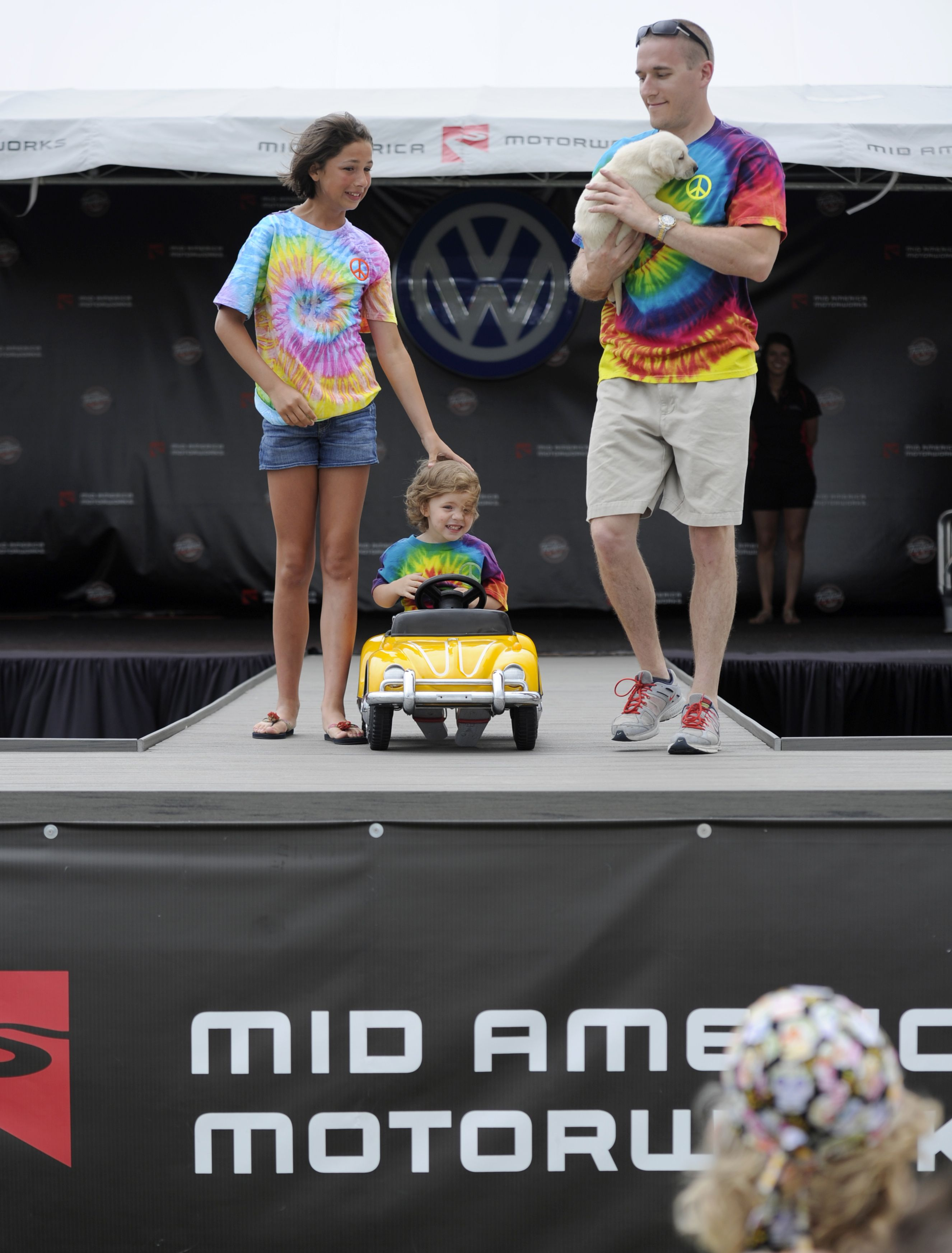 Mid America Motorworks shows off the latest VW fashions during the Funfest for Air-Cooled VW Fashion Show. #funfestacvw www.funfestacvw.com