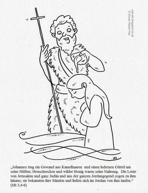 Johannes Der Täufer Ausmalbild