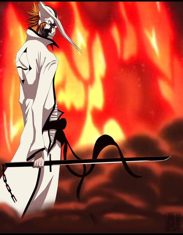Hollow Ichigo Captain Arrancar By Aconst With Images Bleach