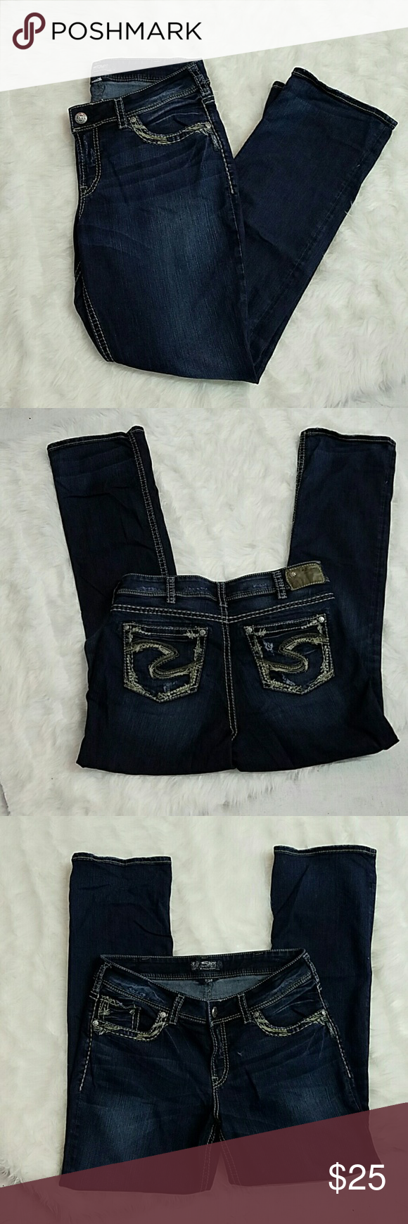 Silver Jeans Suki size 14 Straight Leg 32