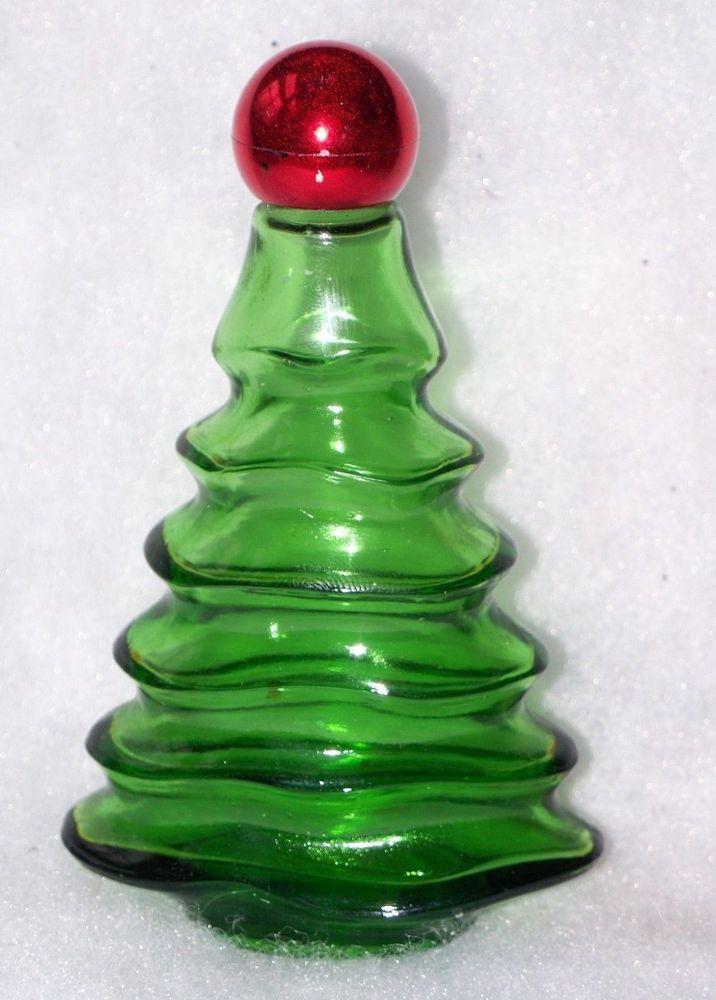 Vintage avon christmas tree glass perfume bottle ebay
