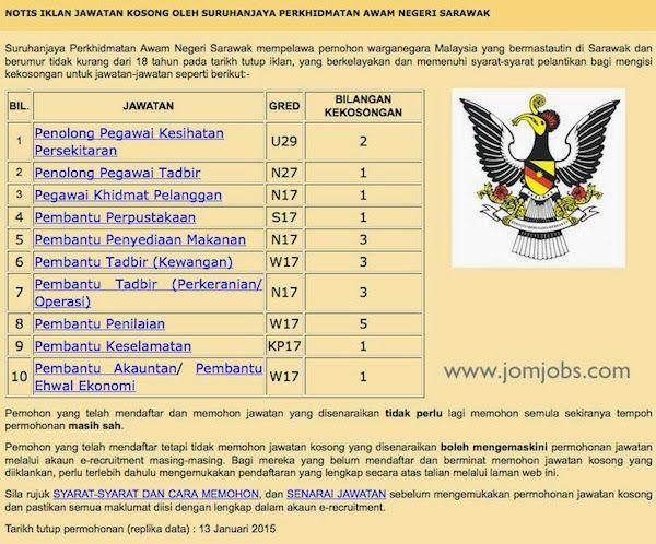 Jawatan Kosong Spa Negeri Sarawak Terkini 13 Januari 2015 Spa Sarawak Job
