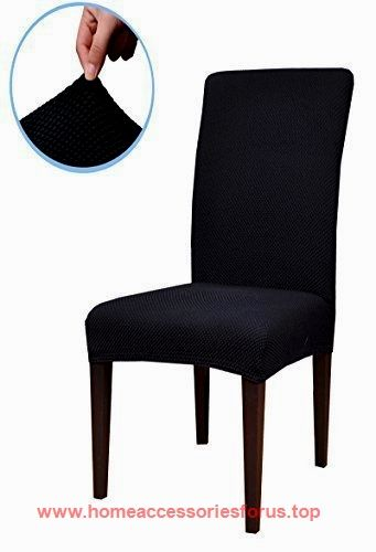 Subrtex Jacquard Stretch Dining Room Chair Slipcovers (2, Black Jacquard)  BUY NOW $24.99 Jacquard Diamond Pattern Dining Chair Covers Add Elegance To  Any ...
