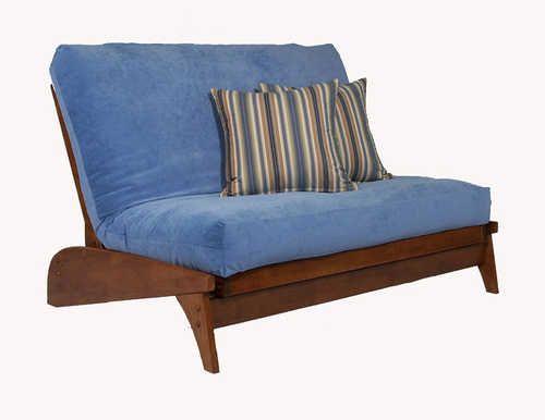 Dillon Warm Cherry Loveseat Futon Set By Strata Furniture Sectional Sofas