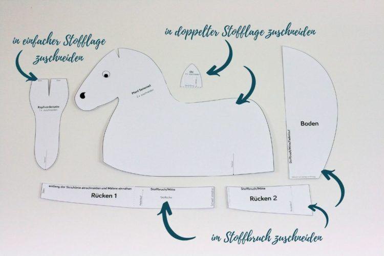 Kostenloses Schnittmuster für einen Pferde-Sitzsack | Snaply-Magazin