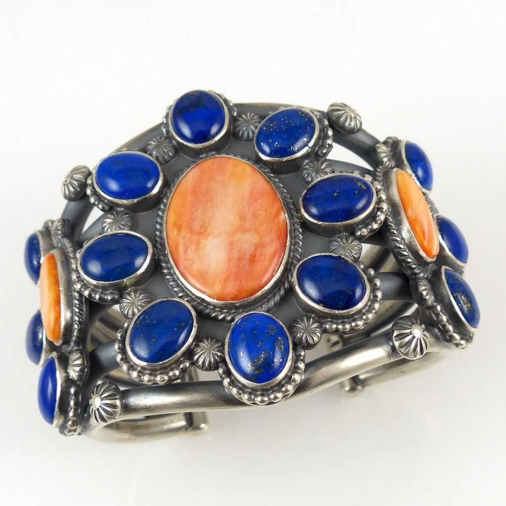 Lapis and Spiny Oyster Cuff – Garland's Indian Jewelry - Tommy Jackson, Navajo