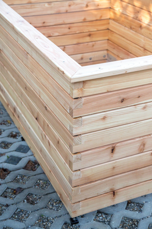 Hochbeet Aus Larchenholz Mit Abschlussbrett In 2020 Hochbeet Holz Hochbeet Larchenholz