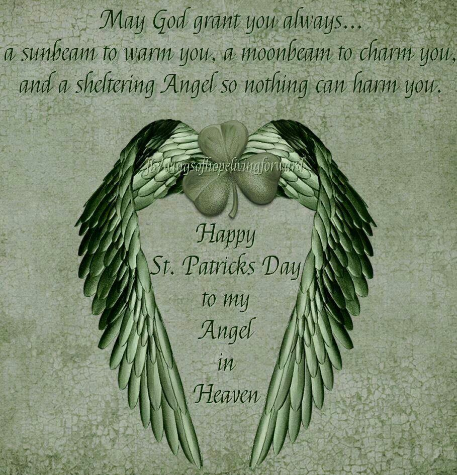 happy st patrick u0027s day in heaven wesley i love and miss you