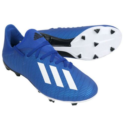 Adidas X 19 3 Fg Football Shoes Soccer Cleats Blue Black Eg7130 In 2020 Football Shoes Soccer Cleats Cleats