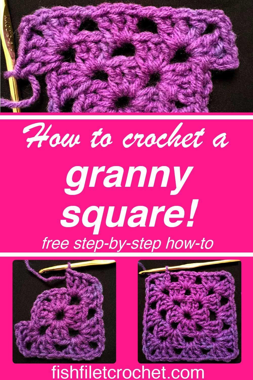 How To Crochet A Granny Square Crochet Knit Crosspoint Crochet
