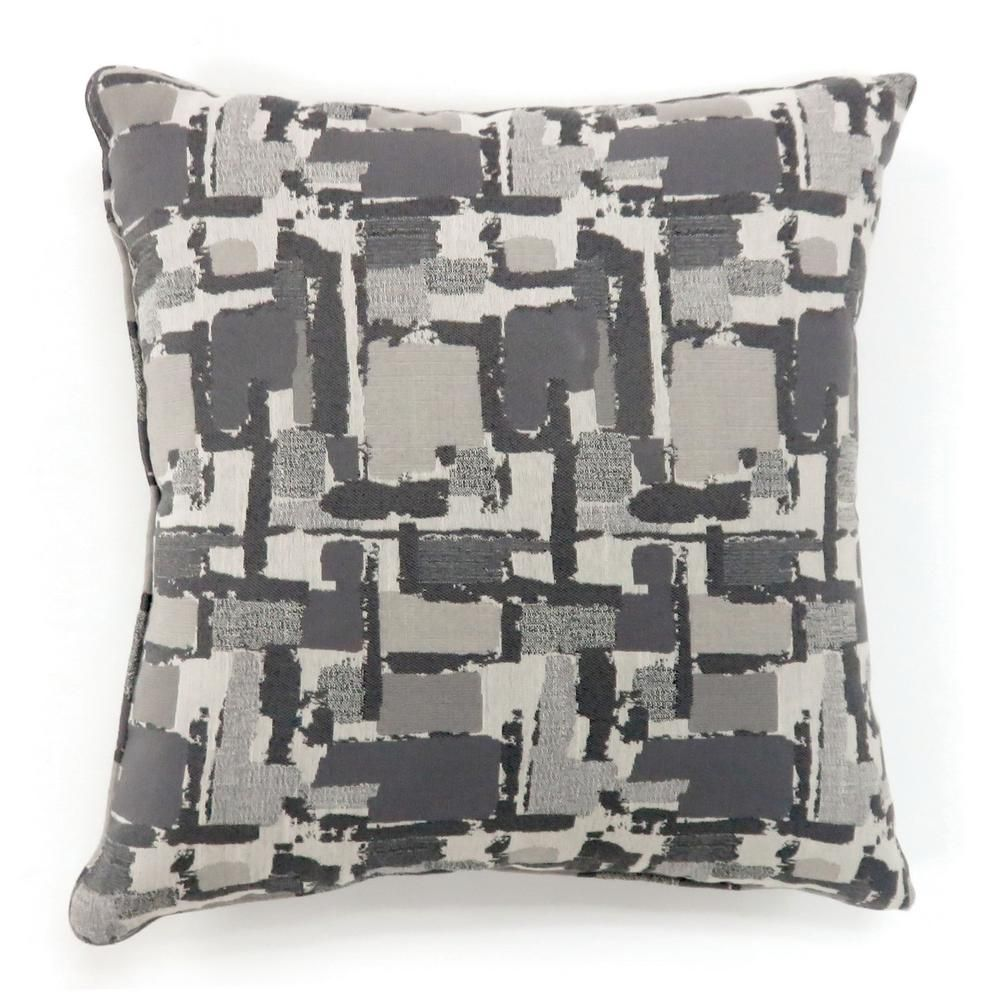 Concrit 22 In Grey Contemporary Standards Throw Pillow Set Of 2 Grey Large In 2020 Contemporary Pillows Throw Pillows Contemporary Throw Pillows