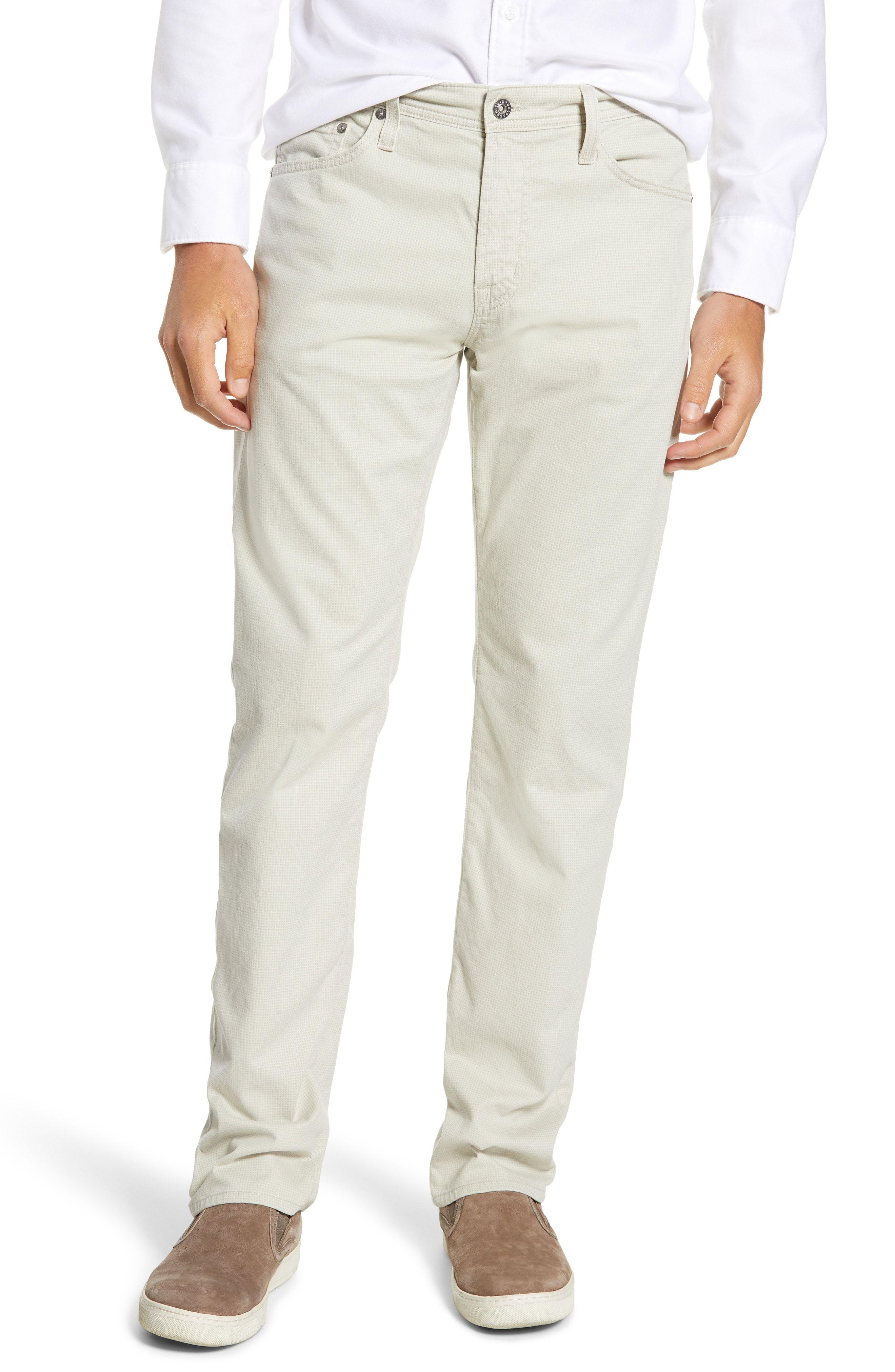 c8c0499076e62 AG EVERETT SUD PRINT SLIM STRAIGHT LEG PANTS.  ag  cloth