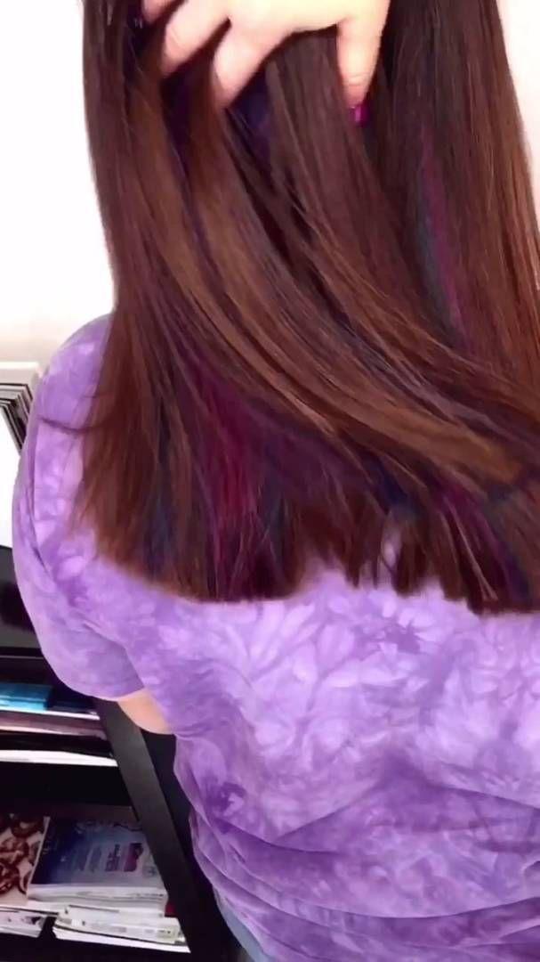 Hidden Underlights! Crazy color hair ! | Hairstyles | Pinterest ...